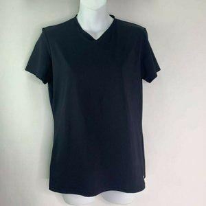 Reebok Play Dry Athletic Top Black Short Sleeve L